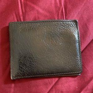 Vintage distressed genuine leather bifold wallet